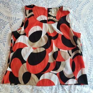 Geometric Dress Blouse